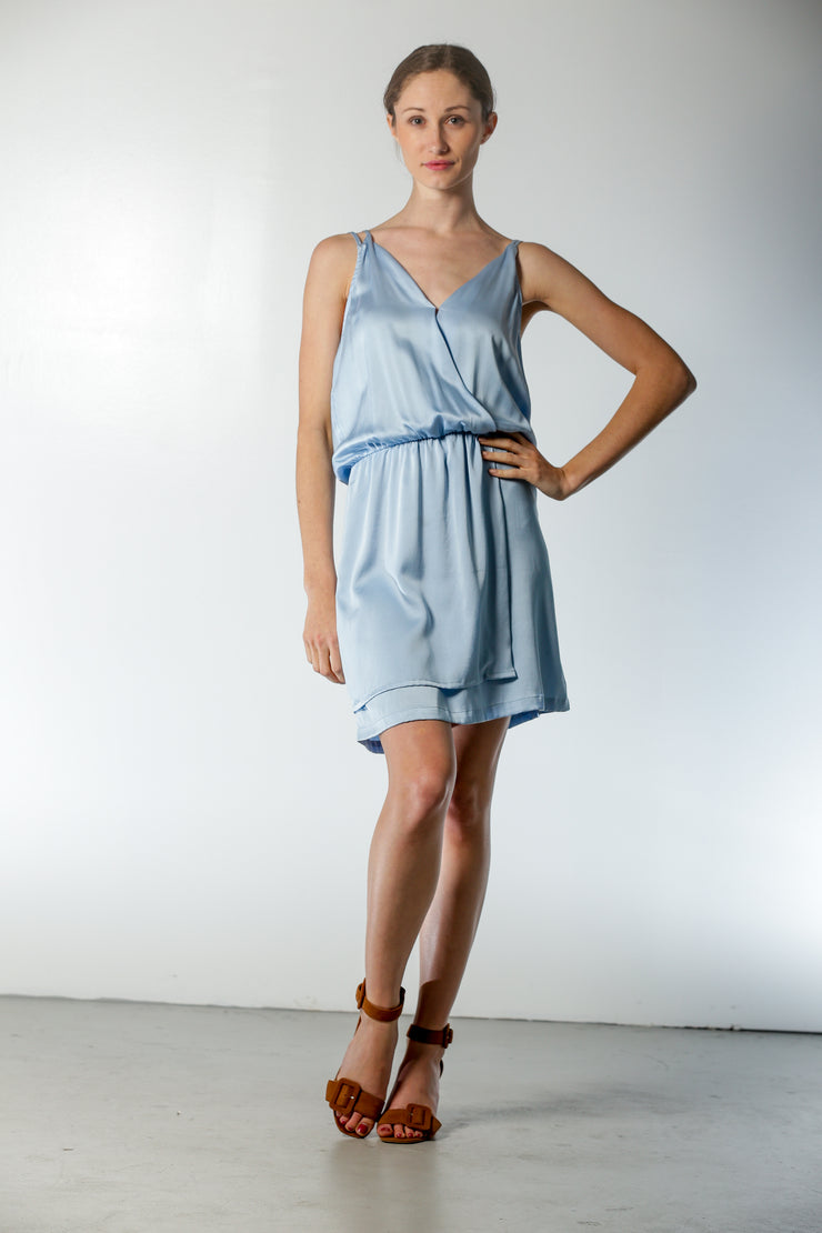 Malibu Dress Faded Denim - Nouvelle