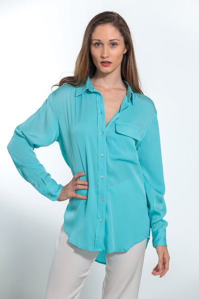 India Shirt Turquoise - Nouvelle