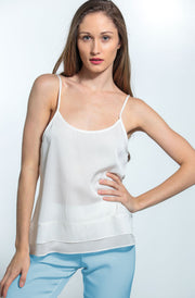 Cami-Jami Set Nouvelle White Cami and Shore Blue Jami