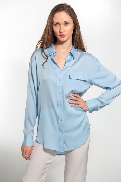 India Shirt Faded Denim - Nouvelle