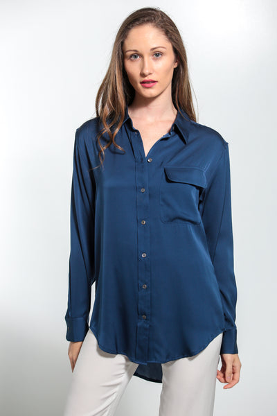 India Shirt Midnight Blue - Nouvelle