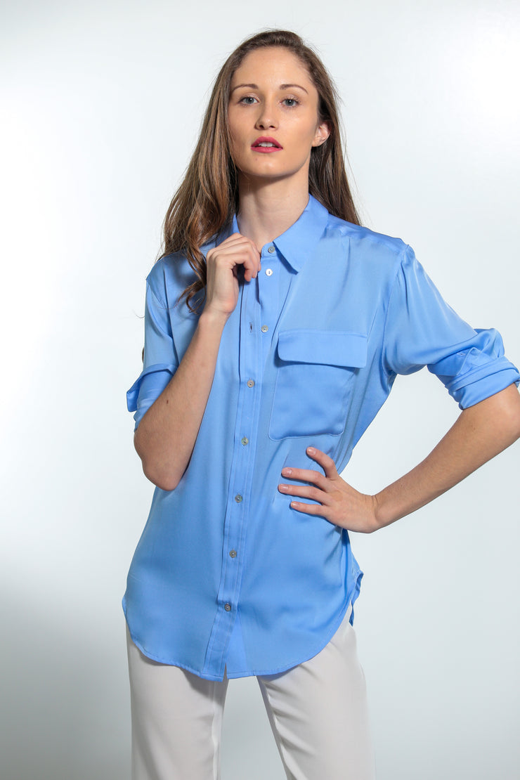 India Shirt Periwinkle - Nouvelle