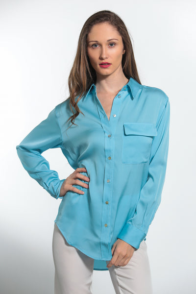 India Shirt Shore Blue - Nouvelle