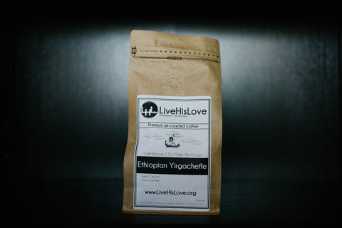 Ethiopian Yirgacheffe || Single Origin, Premium air-roasted coffee - LiveHisLove - Live His Love - 1