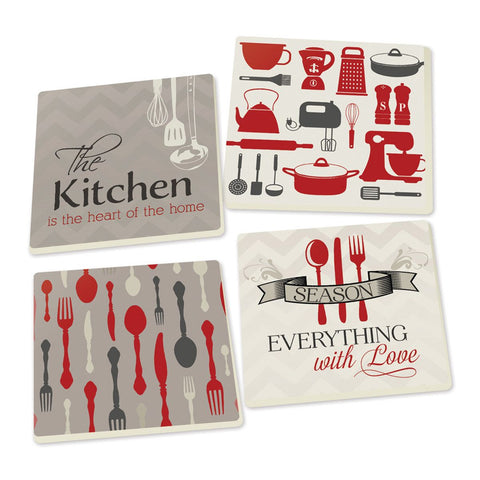 Coaster Pack - Kitchen (4pack) - LiveHisLove - Live His Love