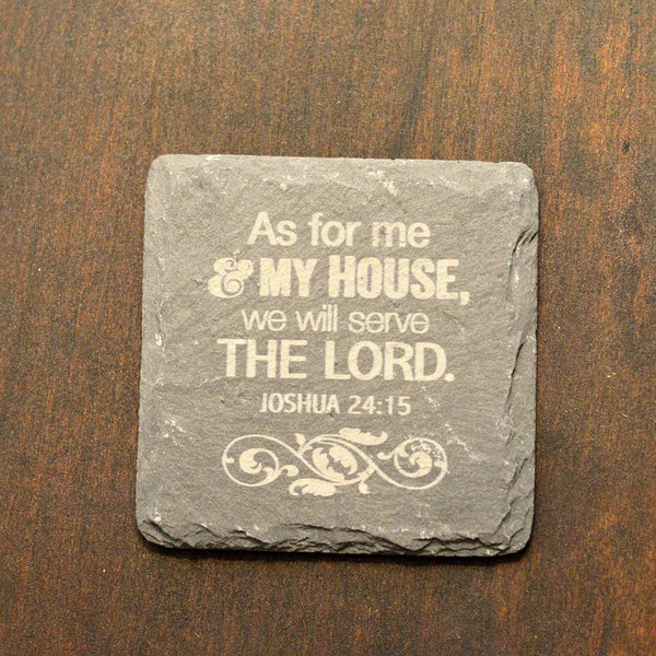 Slate Coaster - As For Me (4Pack) - LiveHisLove - Live His Love - 2