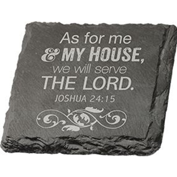 Slate Coaster - As For Me (4Pack) - LiveHisLove - Live His Love - 1