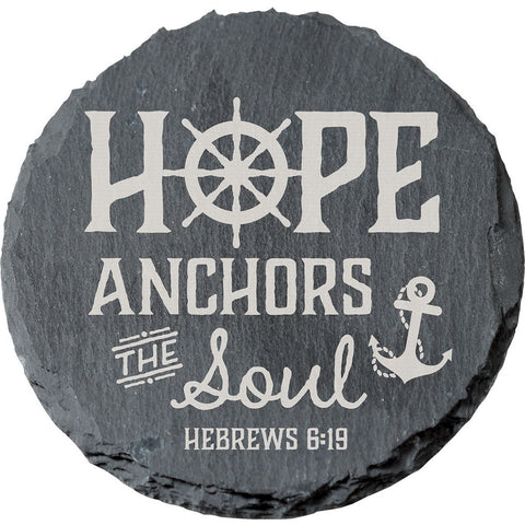 Slate Coaster - Hope Anchors (4pack) - LiveHisLove - Live His Love - 1
