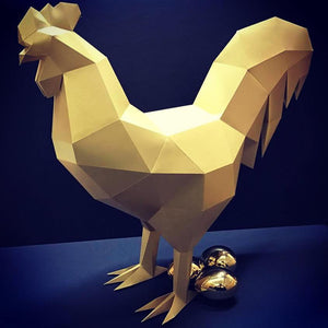 Papercraft rooster