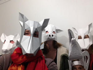 Papercraft Masks for Arts Festival