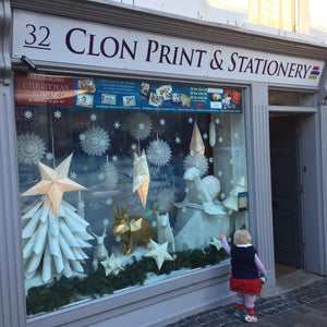 Custom Papercraft window Displays