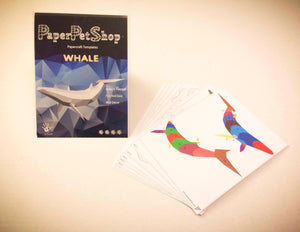 Paper craft Whale gift