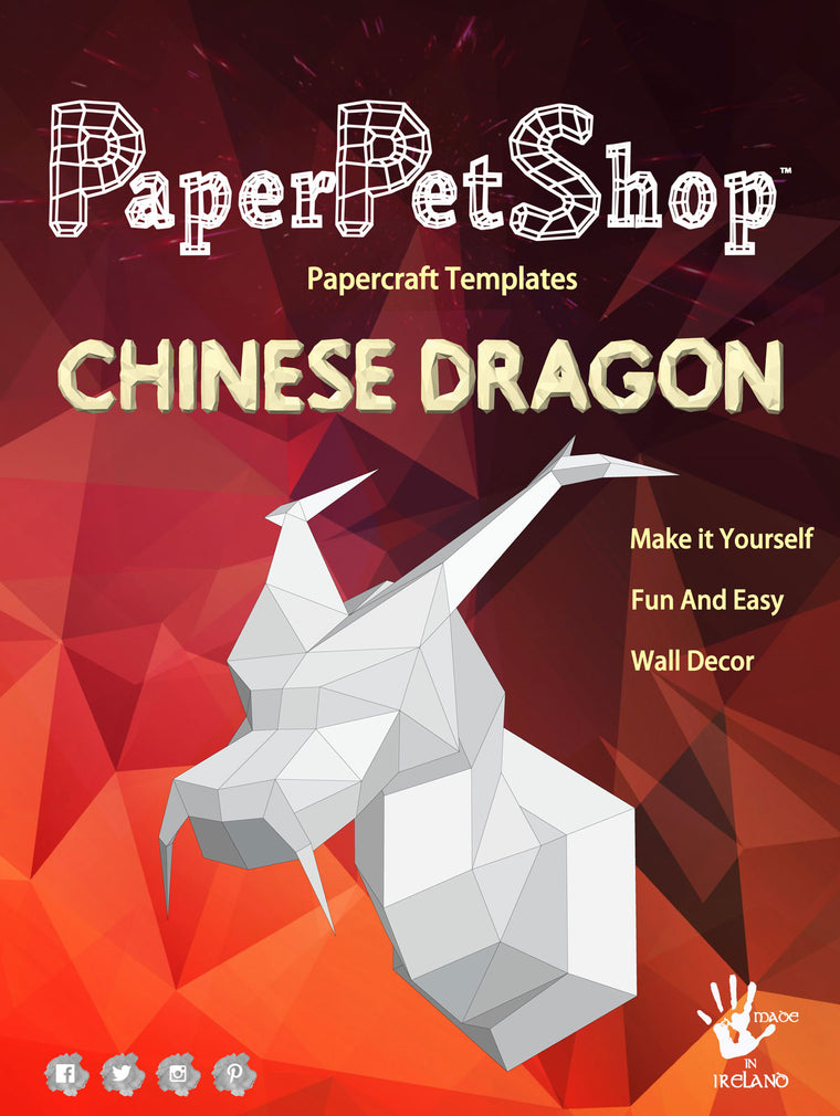 Papercraft Dragon Wall Decor Gift