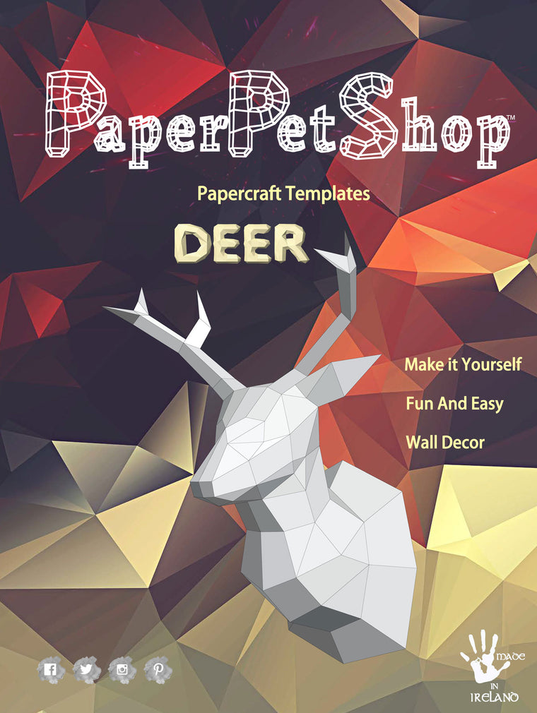 Papercraft Deer, Craft Gift