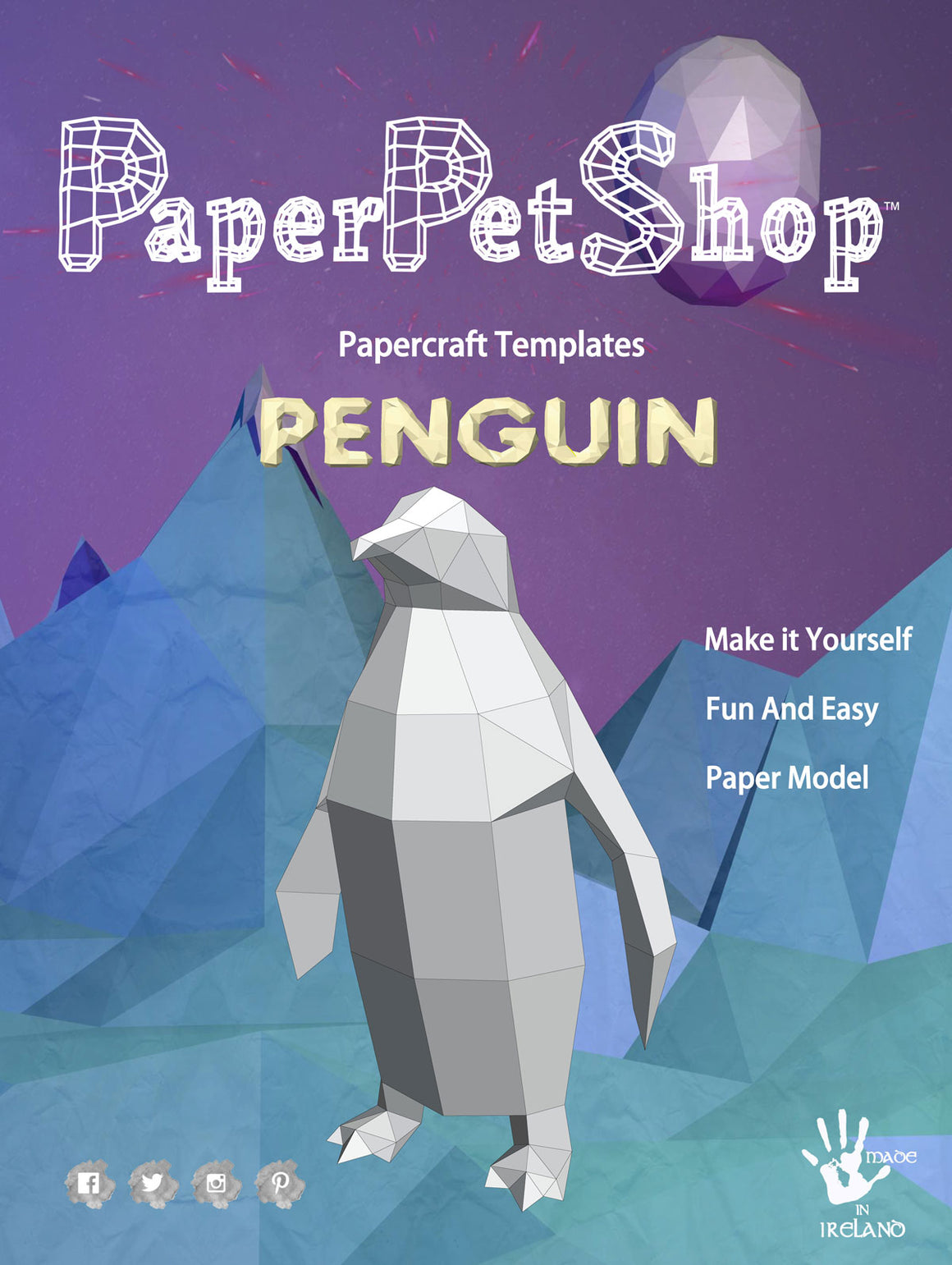 Papercraft Penguin gift