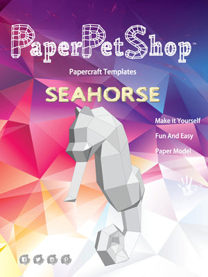 Papercraft Seahorse Gift