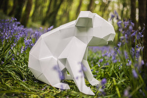 Paper Koala, 3d Papercraft Template, Paper Forest Pet, from Australia. Printable pdf.
