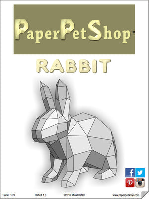 Easter Bunny Rabbit papercraft Template. Giant size