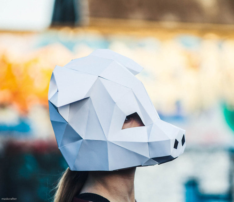 Paper Pig Mask, Papercraft Template, Party Mask, DIY instant download
