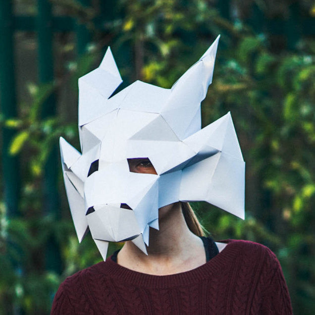 Paper Medieval Dragon Mask, Printable Mask, DIY Instant Download