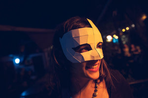 Free Papercraft Halloween Mask, Moon Masquerade Mask, Festival Mask, DIY Instant Download