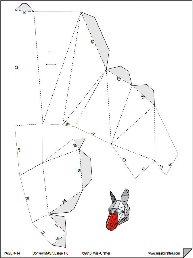 photo regarding 3d Paper Mask Template Free Printable known as Paper Craft 3d Template
