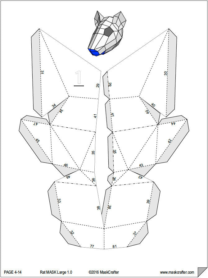 Rat mask templates
