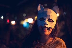 Cat Masquerade Halloween Mask, Papercraft Template, Festival Mask, DIY Digital Download
