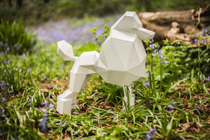 Paper Poodle, Papercraft Template, DIY Paper Pet Dog