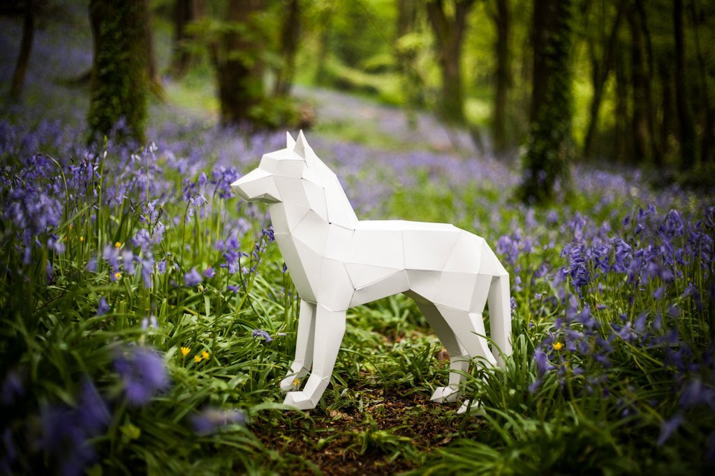 3D Wolf/Dog Papercraft template, Instant Download, Perfect Gift