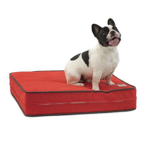 "Sunset Red 5"" Thick Soft/Firm Reversible Gel Memory Foam Orthopedic Dog Bed"