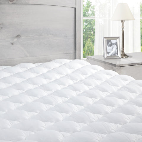 The Pillowtop Mattress Pad - Extra Plush Mattress Pad with Fitted Skirt