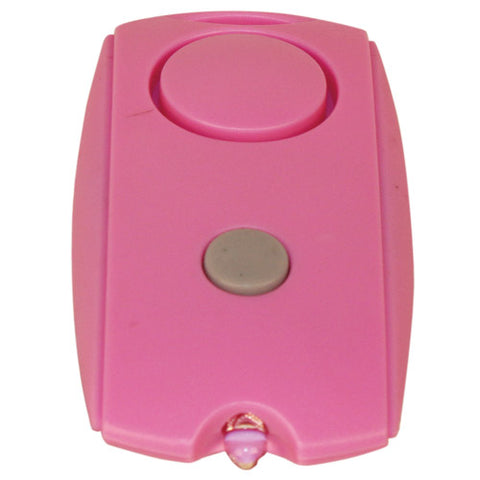Mini Personal Alarm with LED flashlight and Belt Clip - Pink