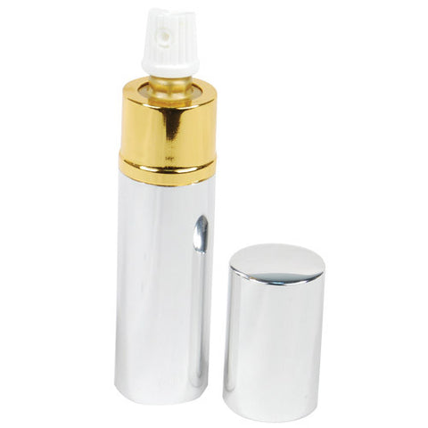 Pepper Shot™  1/2 oz. Lipstick Pepper Spray - Silver - Personal Safety Products Plus