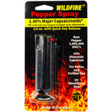 WildFire Pepper Spray 1.4% MC 1/2 oz hard case/quick release - BLK