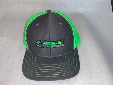 Hess Motorsports Mesh Snap Back Trucker Hat with Full Logo