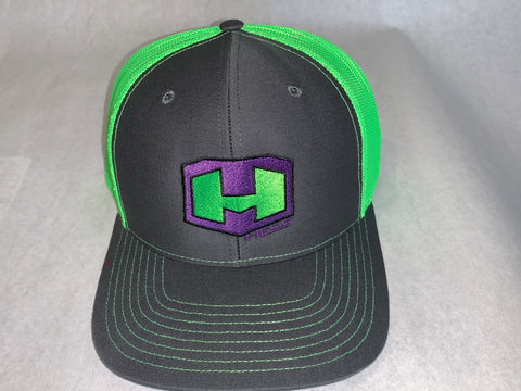 Hess Motorsports Mesh Snap Back Trucker Hat with HM Symbol