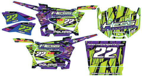 Polaris RZR 800 Graphic Kit - Hess Motorsports Custom Kit
