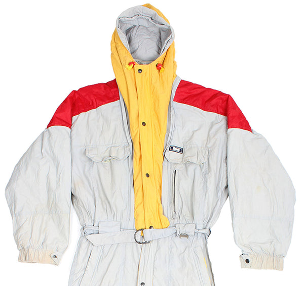 RODEO - SKI SUIT - GREY / YELLOW / RED - L - Ski Suit