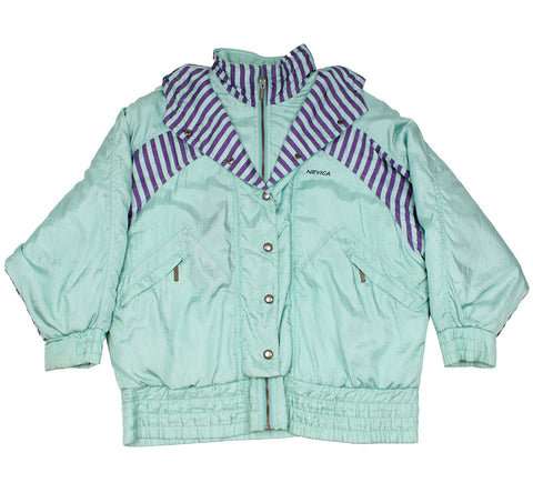 NEVICA - MINT GREEN STRIPES - SKI JACKET - M/L - Ski Jacket