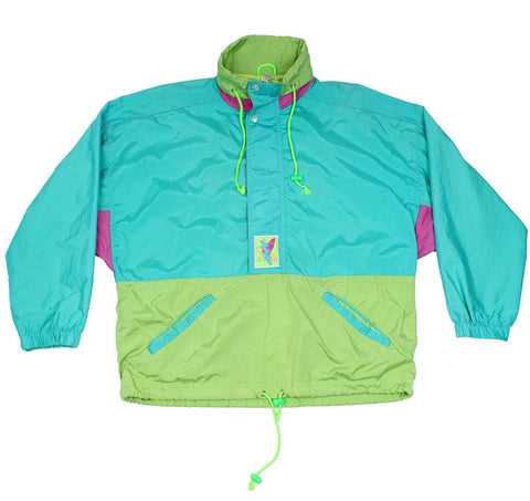 ETIREL - LIGHTWEIGHT WATERPROOF PULLOVER JACKET - BLUE/GREEN - Sports Jacket