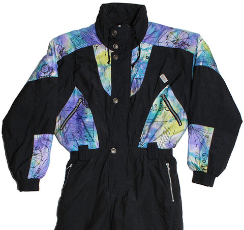 ETIREL - BLACK/MULTI - L - Ski Suit