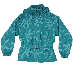 KWAY - ABSTRACT PRINT SKI JACKET - TEAL - M - Ski Jacket