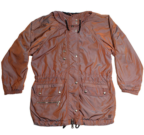 BELFE - METALLIC SKI JACKET - BURNT ORANGE - M/L - Ski Jacket