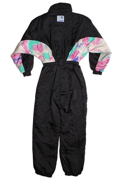 GOLDEN TEAM - BLACK/MULTI - SKI SUIT - S - Ski Suit