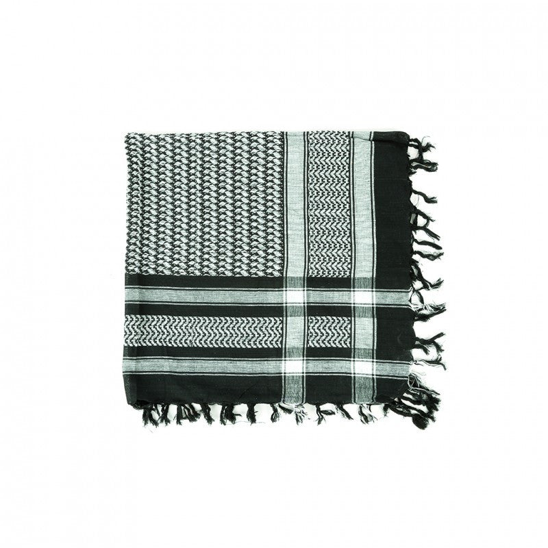 ROCK DADDY - ARAFAT SCARF - Black/White check