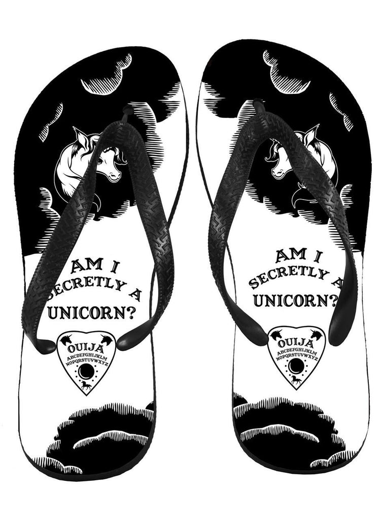 Printed image design on flip flops
