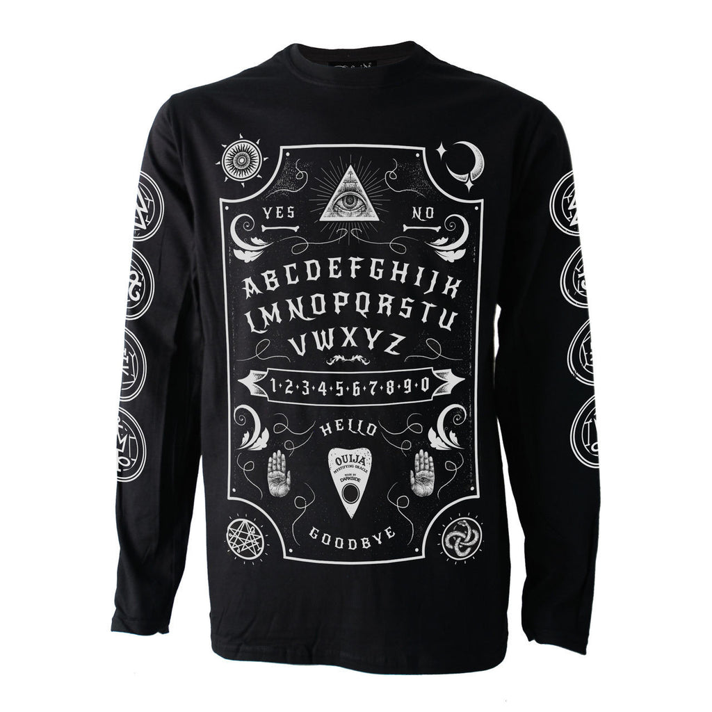 Darkside - OUIJA BOARD - Mens Long Sleeve Top - Black