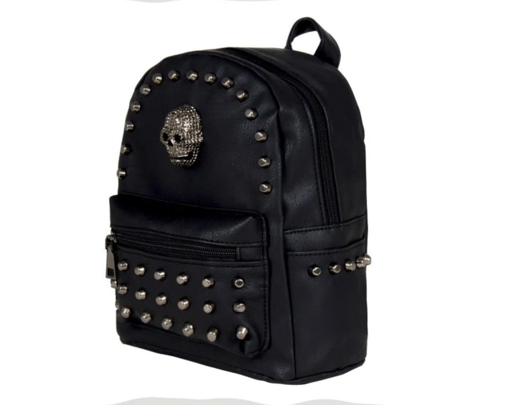 Gothx - SKULL HEAD STAR STUDDED - Mini Backpack