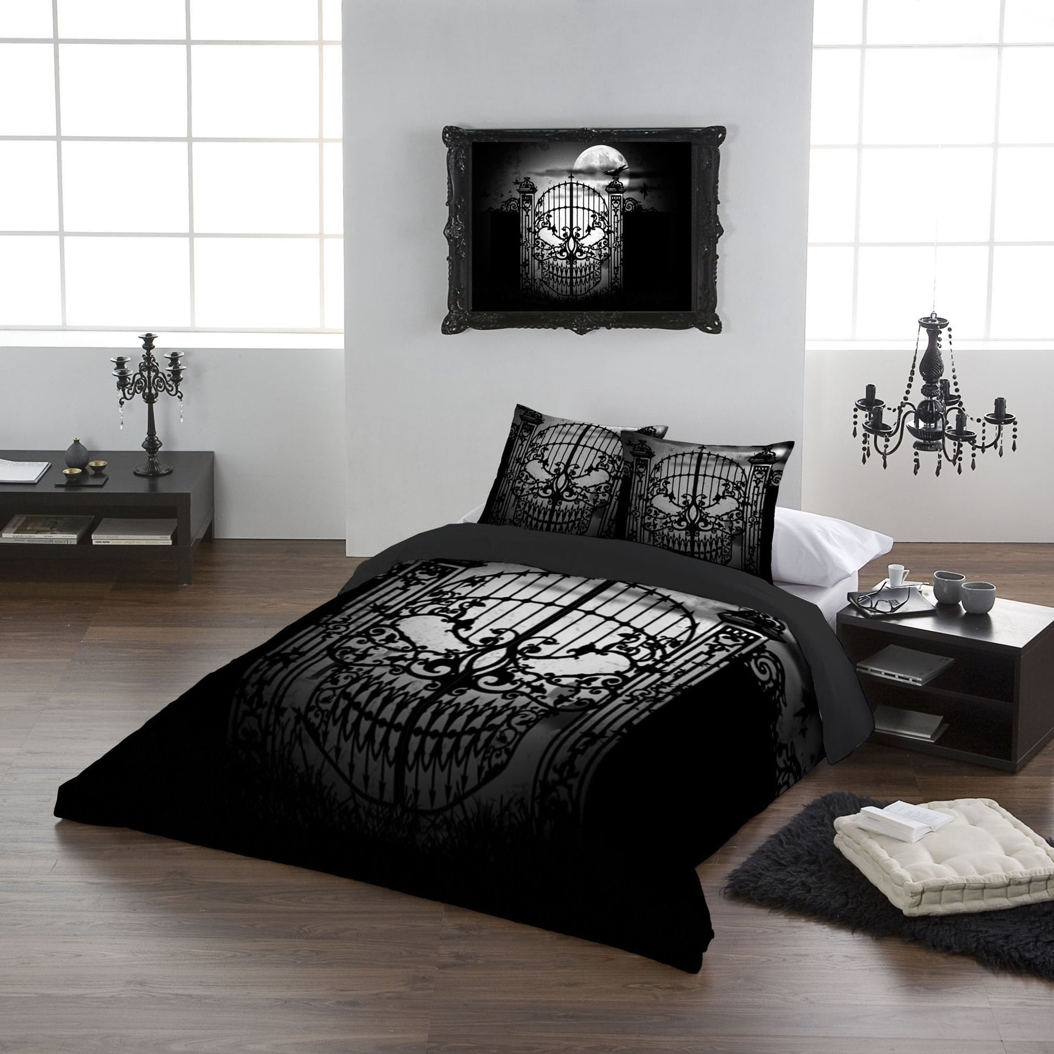 Gothic Bedding Abandon All Hope Super King Duvet Cover Set King Usa